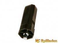 Mini-Wellenkapsel SW 40 mit Gurtscheibenaufnahme Zapfen außen
