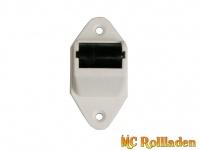 MC Rollladen! Mini-Aufschraubleitrolle mit nadelgelagerter Stahlrolle und Bürste