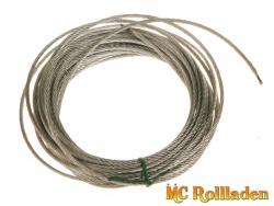 MC Rollladen! Drahtseil für Seilwinde ( 8 m lang), stärke 2,4 mm